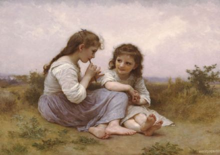 Bouguereau, William Adolphe: A Childhood Idyll. Fine Art Print/Poster (1621)